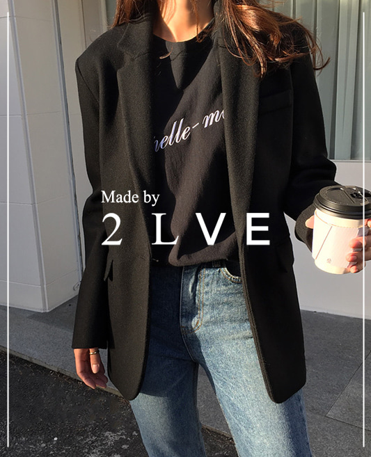 Made by 2lve ★ 모딘 심플 울 Jacket 2